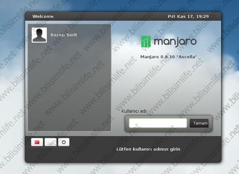 Manjaro 0.8.10 Kurulumu